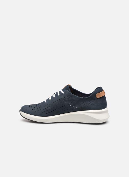 Sneaker Clarks Unstructured Un Rio Tie blau ansicht von vorne