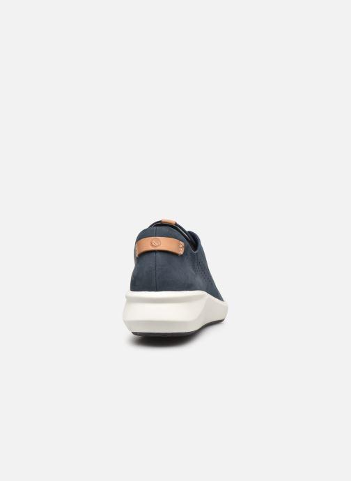 Sneaker Clarks Unstructured Un Rio Tie blau ansicht von rechts