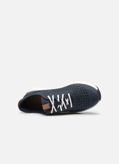 Sneaker Clarks Unstructured Un Rio Tie blau ansicht von links