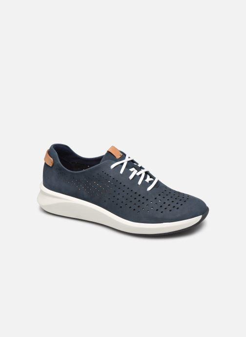 Sneaker Clarks Unstructured Un Rio Tie blau detaillierte ansicht/modell