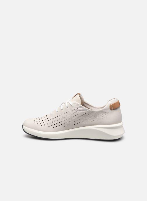 Sneakers Clarks Unstructured Un Rio Tie Bianco immagine frontale