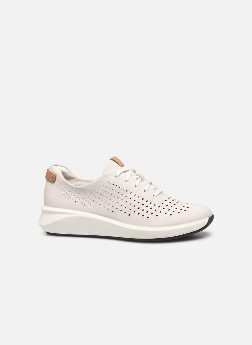 Sneakers Clarks Unstructured Un Rio Tie Bianco immagine posteriore