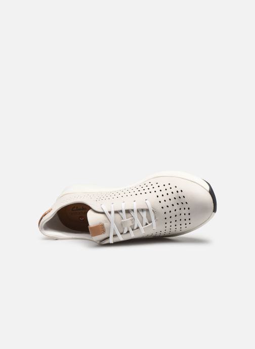 Sneakers Clarks Unstructured Un Rio Tie Bianco immagine sinistra