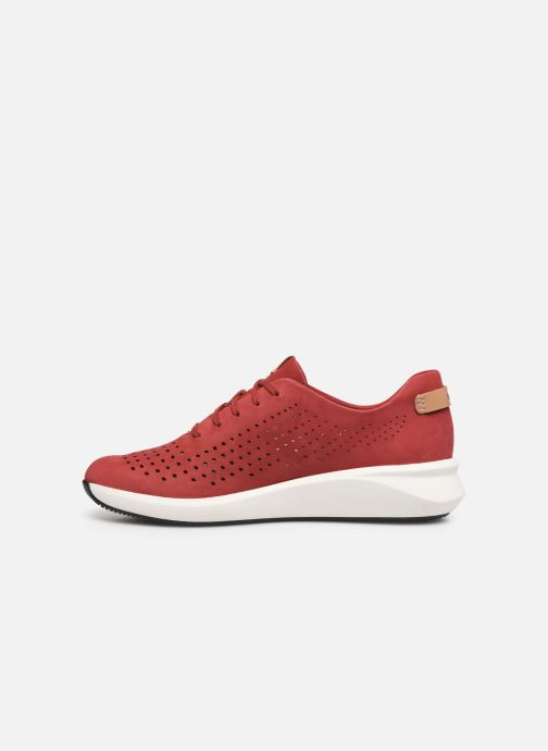 Sneakers Clarks Unstructured Un Rio Tie Rosso immagine frontale