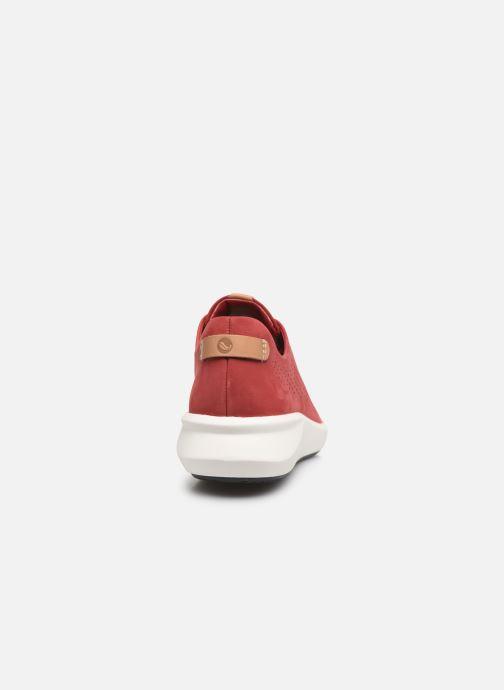 Sneakers Clarks Unstructured Un Rio Tie Rosso immagine destra