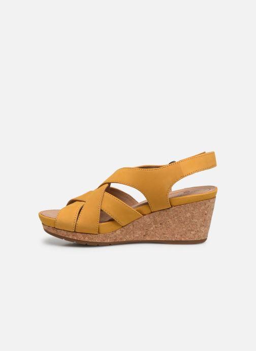 Sandales et nu-pieds Clarks Unstructured Un Capri Step Jaune vue face