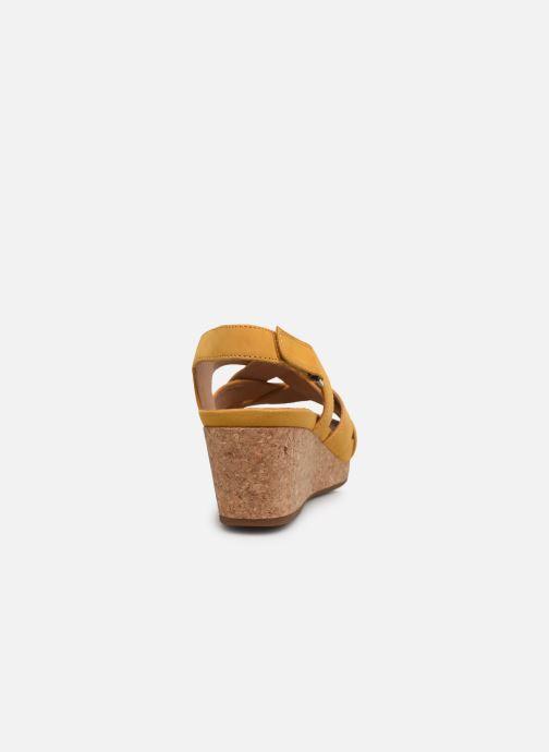 Sandales et nu-pieds Clarks Unstructured Un Capri Step Jaune vue droite