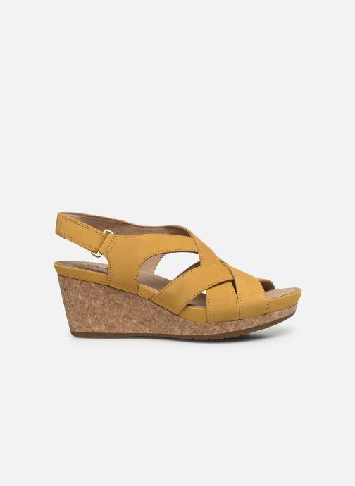 Sandales et nu-pieds Clarks Unstructured Un Capri Step Jaune vue derrière