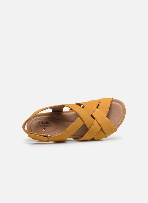 Sandales et nu-pieds Clarks Unstructured Un Capri Step Jaune vue gauche