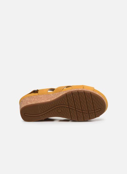 Sandales et nu-pieds Clarks Unstructured Un Capri Step Jaune vue haut