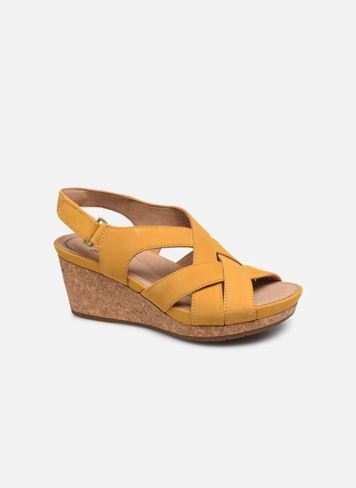Sandales et nu-pieds Clarks Unstructured Un Capri Step Jaune vue détail/paire
