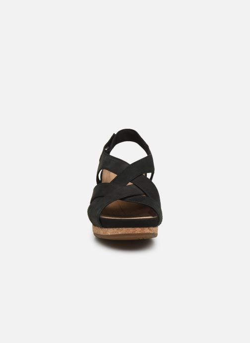 Sandales et nu-pieds Clarks Unstructured Un Capri Step Noir vue portées chaussures