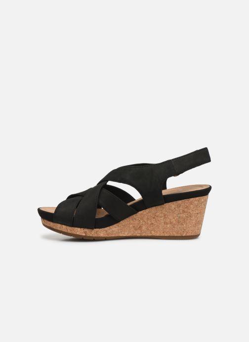 Sandales et nu-pieds Clarks Unstructured Un Capri Step Noir vue face
