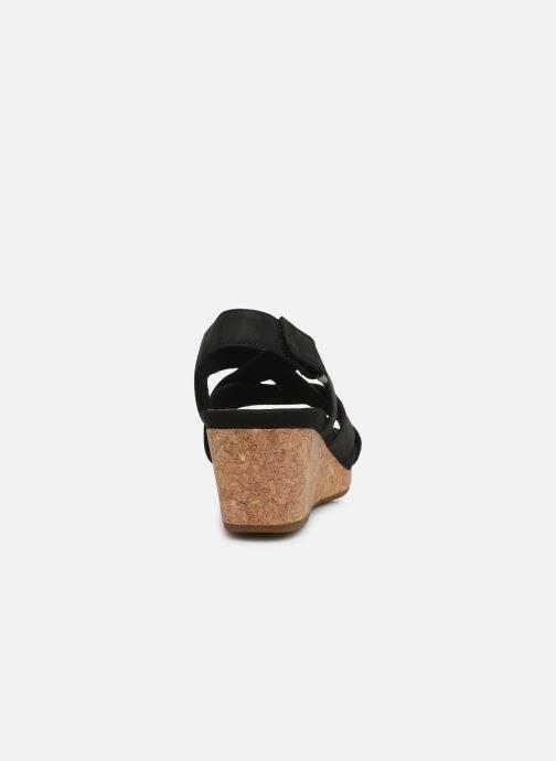 Sandales et nu-pieds Clarks Unstructured Un Capri Step Noir vue droite