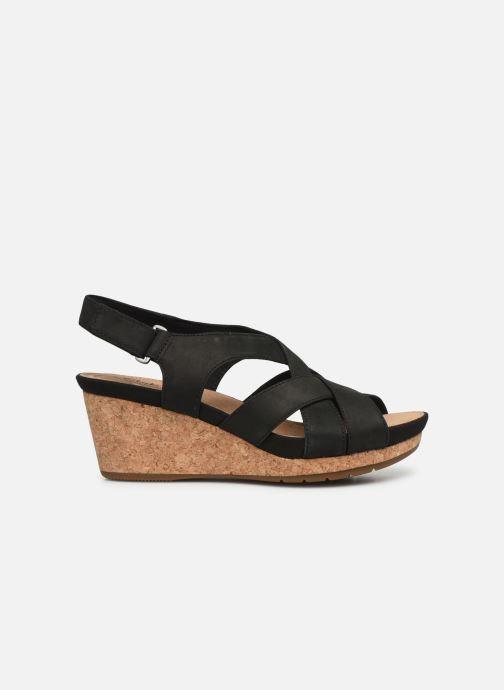 Sandales et nu-pieds Clarks Unstructured Un Capri Step Noir vue derrière