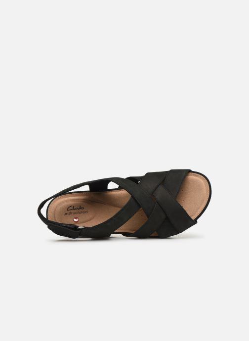 Sandales et nu-pieds Clarks Unstructured Un Capri Step Noir vue gauche