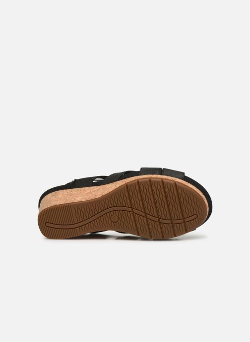 Sandales et nu-pieds Clarks Unstructured Un Capri Step Noir vue haut