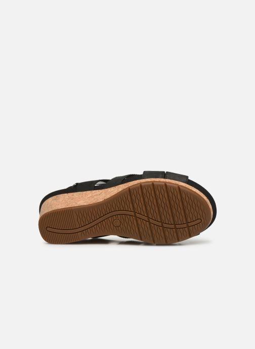 Sandali e scarpe aperte Clarks Unstructured Un Capri Step Nero immagine dall'alto
