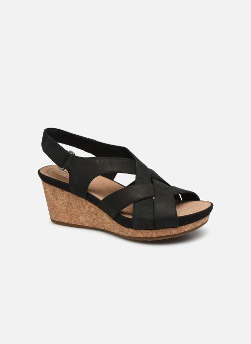Sandales et nu-pieds Clarks Unstructured Un Capri Step Noir vue détail/paire