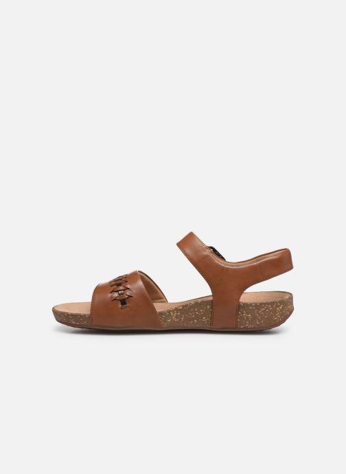 Sandales et nu-pieds Clarks Unstructured Un Perri Way Marron vue face