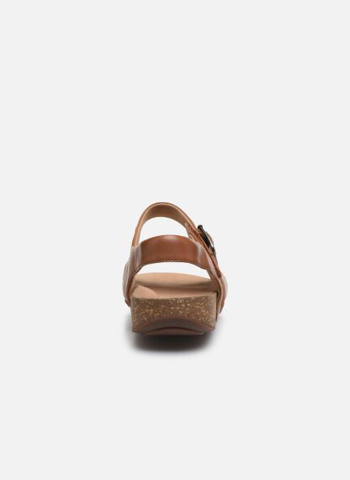 Sandales et nu-pieds Clarks Unstructured Un Perri Way Marron vue droite