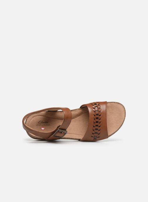 Sandales et nu-pieds Clarks Unstructured Un Perri Way Marron vue gauche