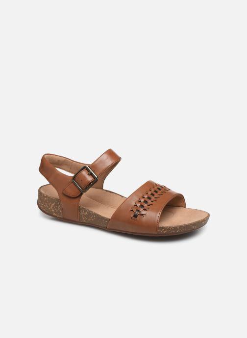 Sandales et nu-pieds Clarks Unstructured Un Perri Way Marron vue détail/paire