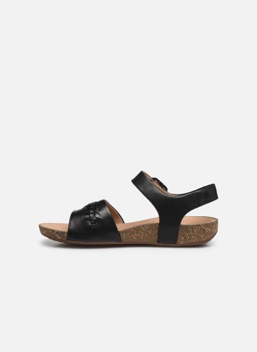 Sandales et nu-pieds Clarks Unstructured Un Perri Way Noir vue face