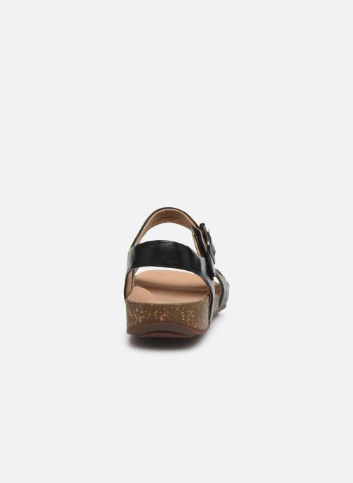 Sandales et nu-pieds Clarks Unstructured Un Perri Way Noir vue droite