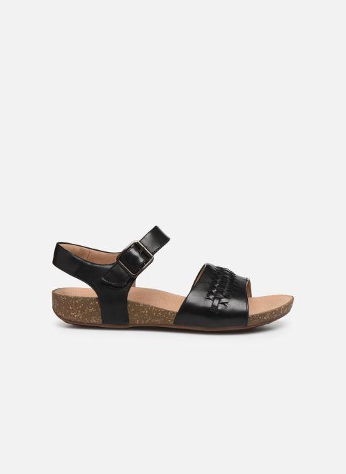 Sandales et nu-pieds Clarks Unstructured Un Perri Way Noir vue derrière