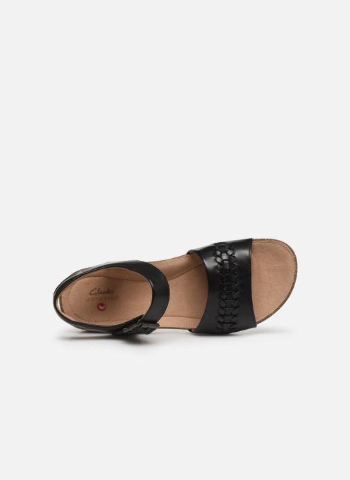 Sandales et nu-pieds Clarks Unstructured Un Perri Way Noir vue gauche