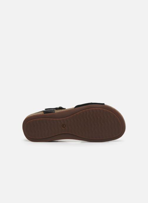 Sandales et nu-pieds Clarks Unstructured Un Perri Way Noir vue haut