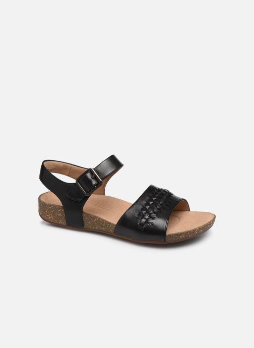 Sandales et nu-pieds Clarks Unstructured Un Perri Way Noir vue détail/paire