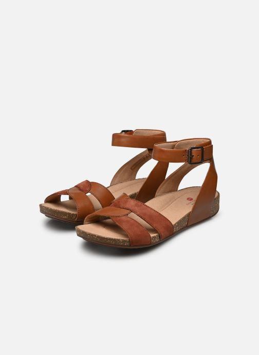 Sandales et nu-pieds Clarks Unstructured Un Perri Loop Marron vue bas / vue portée sac