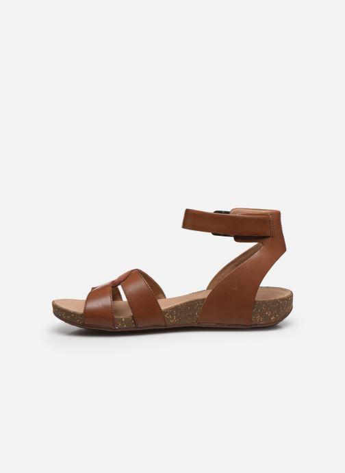 Sandales et nu-pieds Clarks Unstructured Un Perri Loop Marron vue face