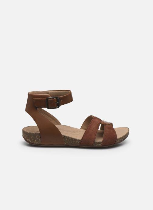 Sandales et nu-pieds Clarks Unstructured Un Perri Loop Marron vue derrière
