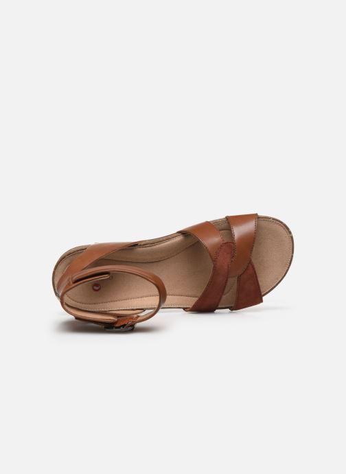 Sandales et nu-pieds Clarks Unstructured Un Perri Loop Marron vue gauche
