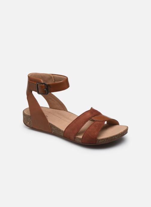 Sandales et nu-pieds Clarks Unstructured Un Perri Loop Marron vue détail/paire