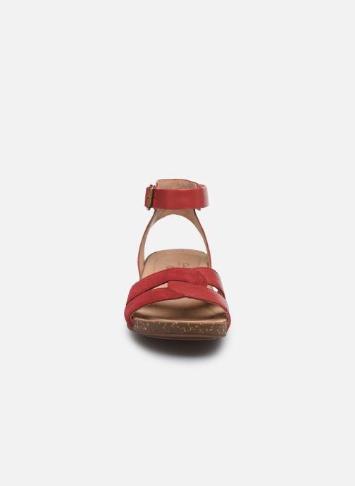 Sandales et nu-pieds Clarks Unstructured Un Perri Loop Rouge vue portées chaussures