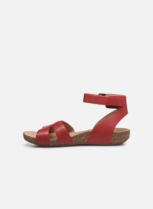 Sandales et nu-pieds Clarks Unstructured Un Perri Loop Rouge vue face