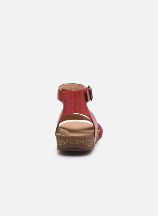 Sandales et nu-pieds Clarks Unstructured Un Perri Loop Rouge vue droite