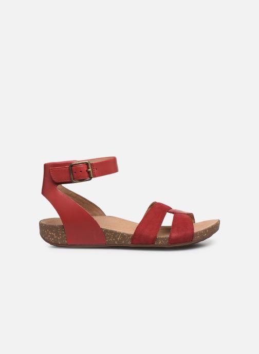 Sandales et nu-pieds Clarks Unstructured Un Perri Loop Rouge vue derrière