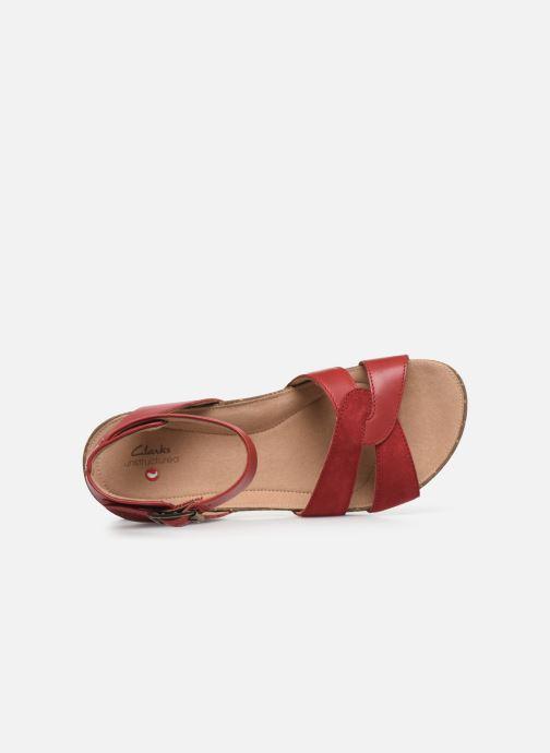 Sandales et nu-pieds Clarks Unstructured Un Perri Loop Rouge vue gauche