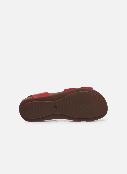 Sandales et nu-pieds Clarks Unstructured Un Perri Loop Rouge vue haut
