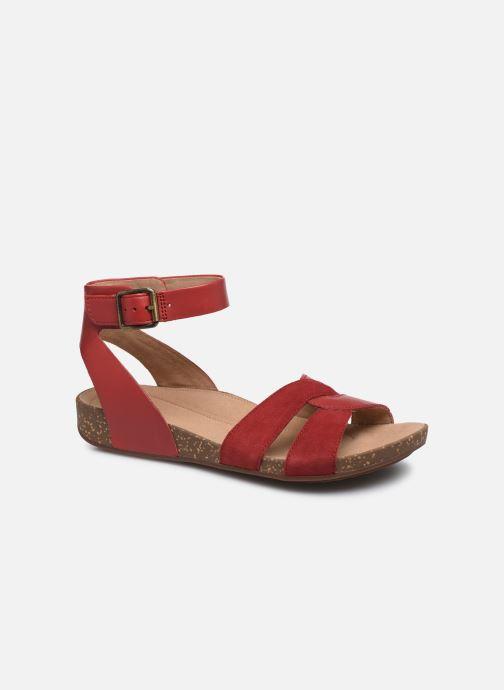 Sandales et nu-pieds Clarks Unstructured Un Perri Loop Rouge vue détail/paire