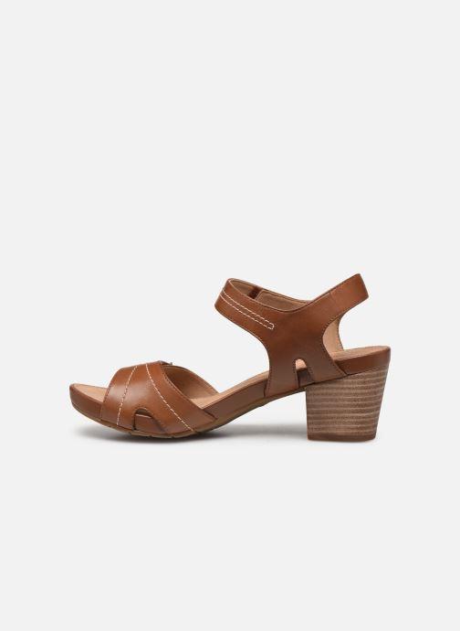 Sandali e scarpe aperte Clarks Unstructured Un Palma Vibe Marrone immagine frontale