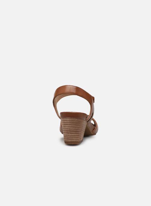 Sandali e scarpe aperte Clarks Unstructured Un Palma Vibe Marrone immagine destra