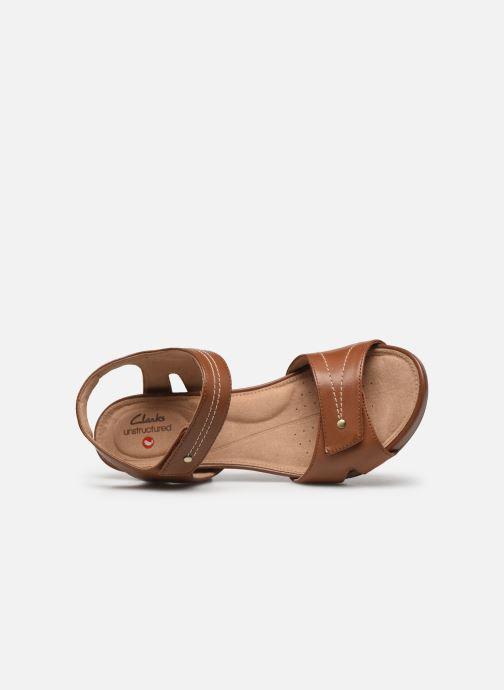 Sandali e scarpe aperte Clarks Unstructured Un Palma Vibe Marrone immagine sinistra