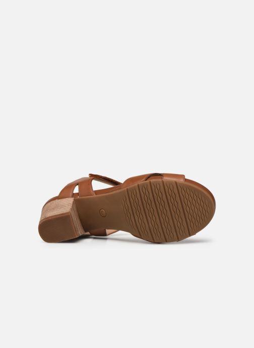 Sandali e scarpe aperte Clarks Unstructured Un Palma Vibe Marrone immagine dall'alto