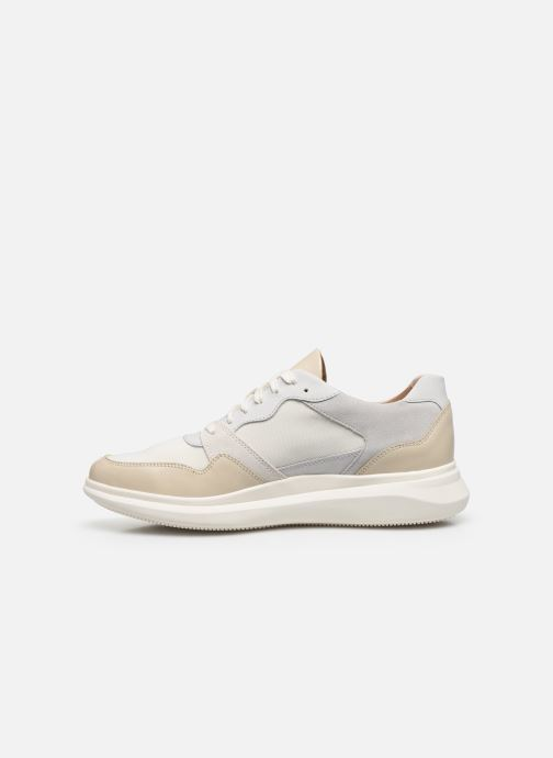 Deportivas Clarks Unstructured Un Globe Run Blanco vista de frente